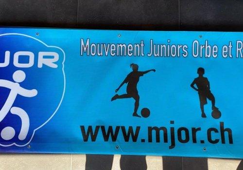 Des nouvelles banderoles MJOR ornent les terrains des clubs partenaires